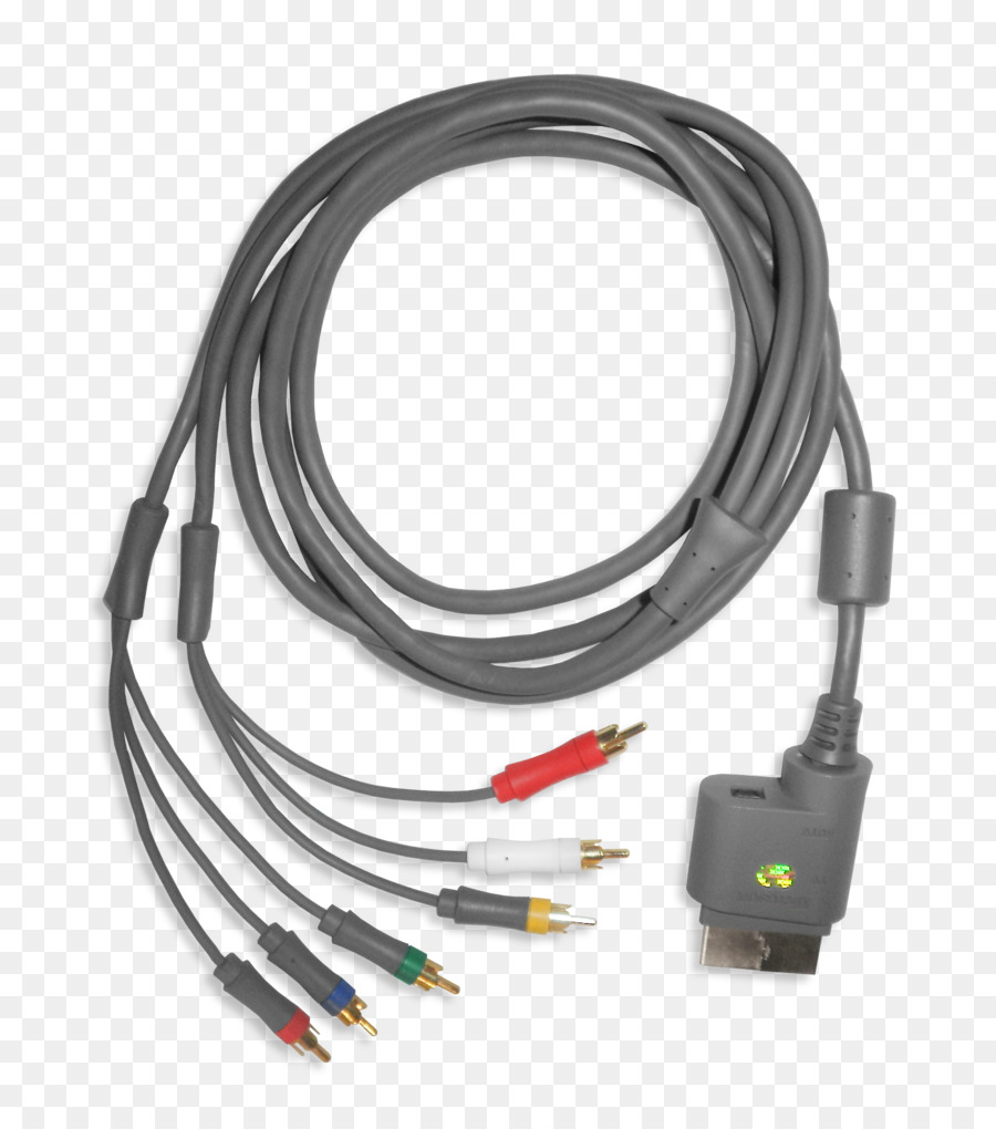 Xbox 360 Wii SCART Composite video RCA connector - cable png ...