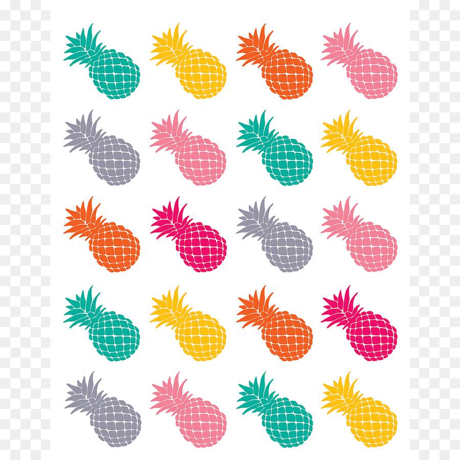 Sticker Abc Center School Supplies Paper Punch Education Pineapple