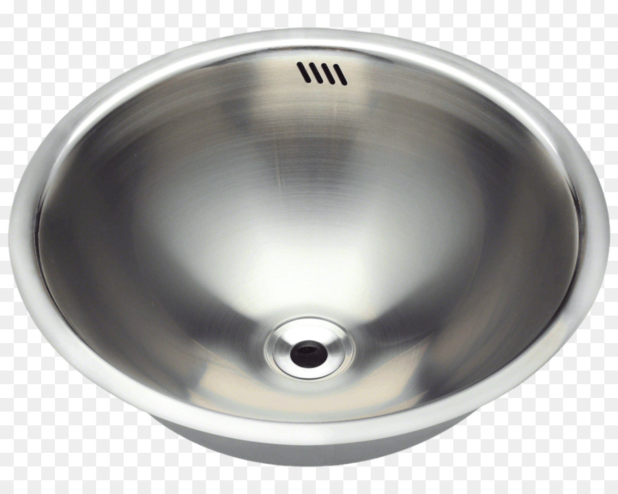 Sink Brushed Metal Stainless Steel Kitchen Plumbing Fixture Png
