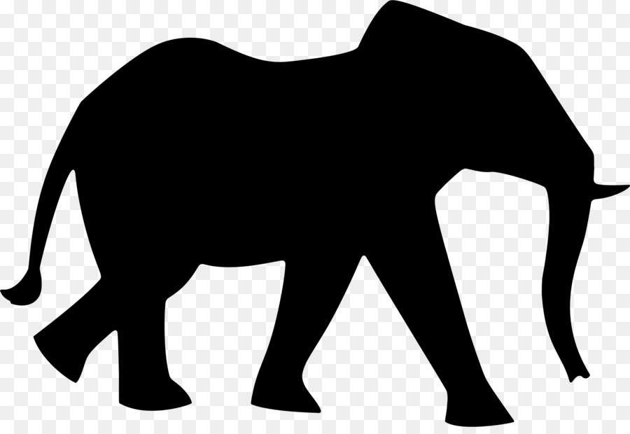 african elephant silhouette clip art elephant png download 2304 rh kisspng com Elephant Outline Clip Art Elephant Clip Art Black and White