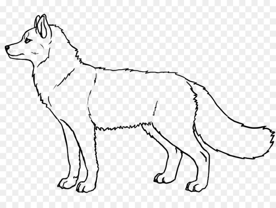 Husky siberiano Cachorro de arte de Línea de Alaska Malamute de ...