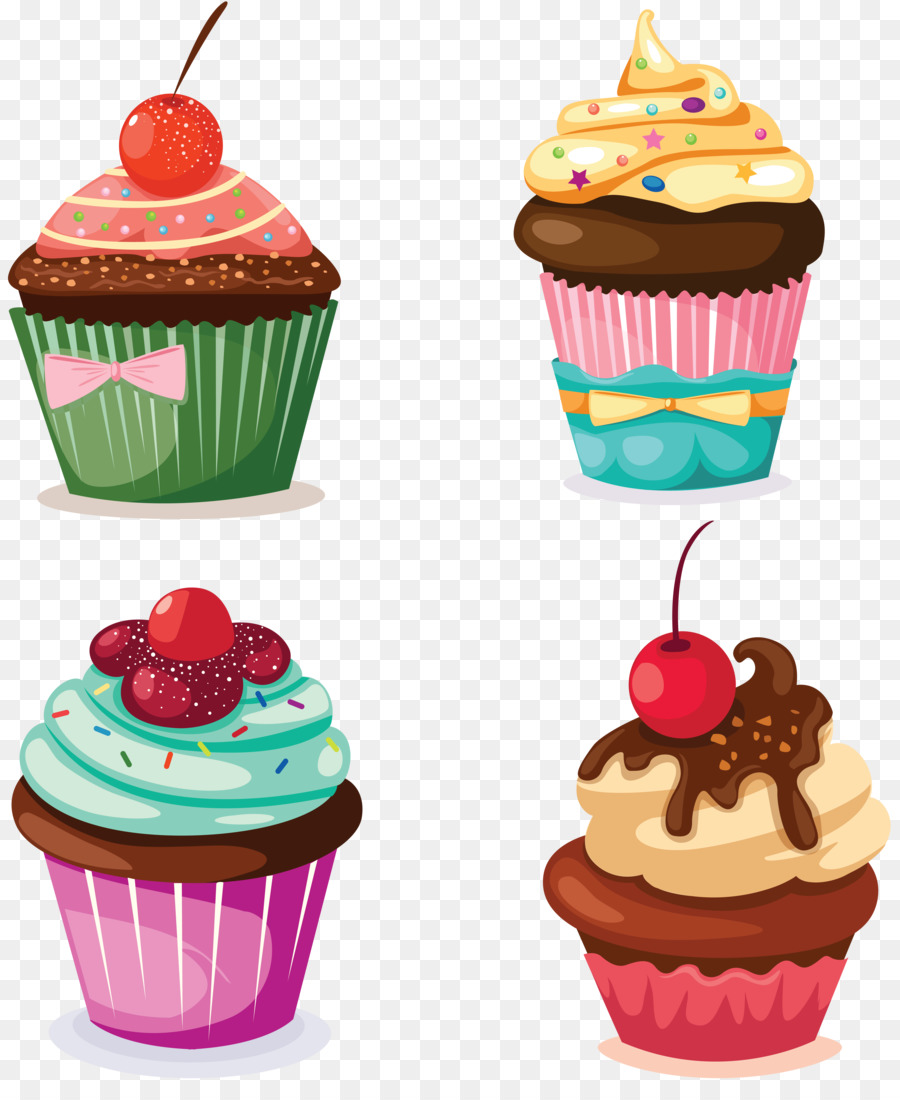 cupcake png clipart cupcake drawing pastry pastel - HD 900×1100
