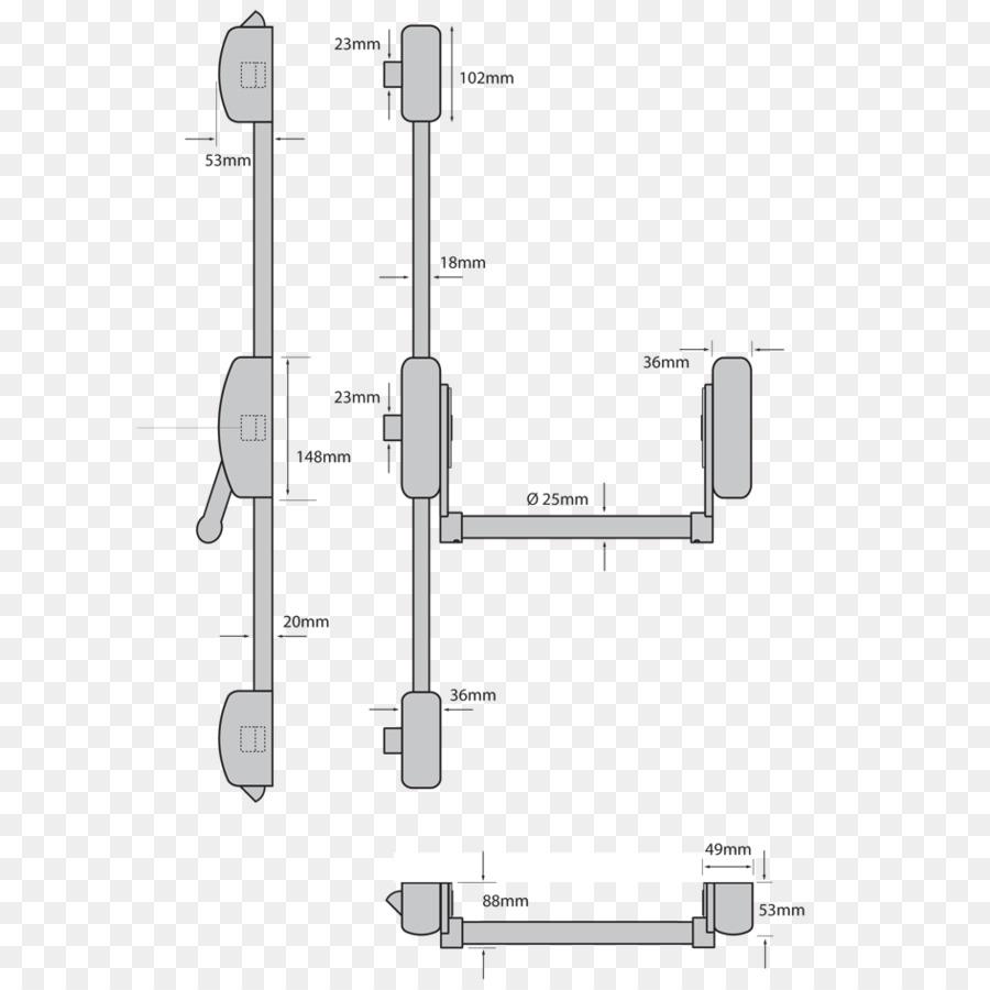 crash bar lock door chain latch bar panels png download 945 945 rh kisspng com von duprin crash bar diagram