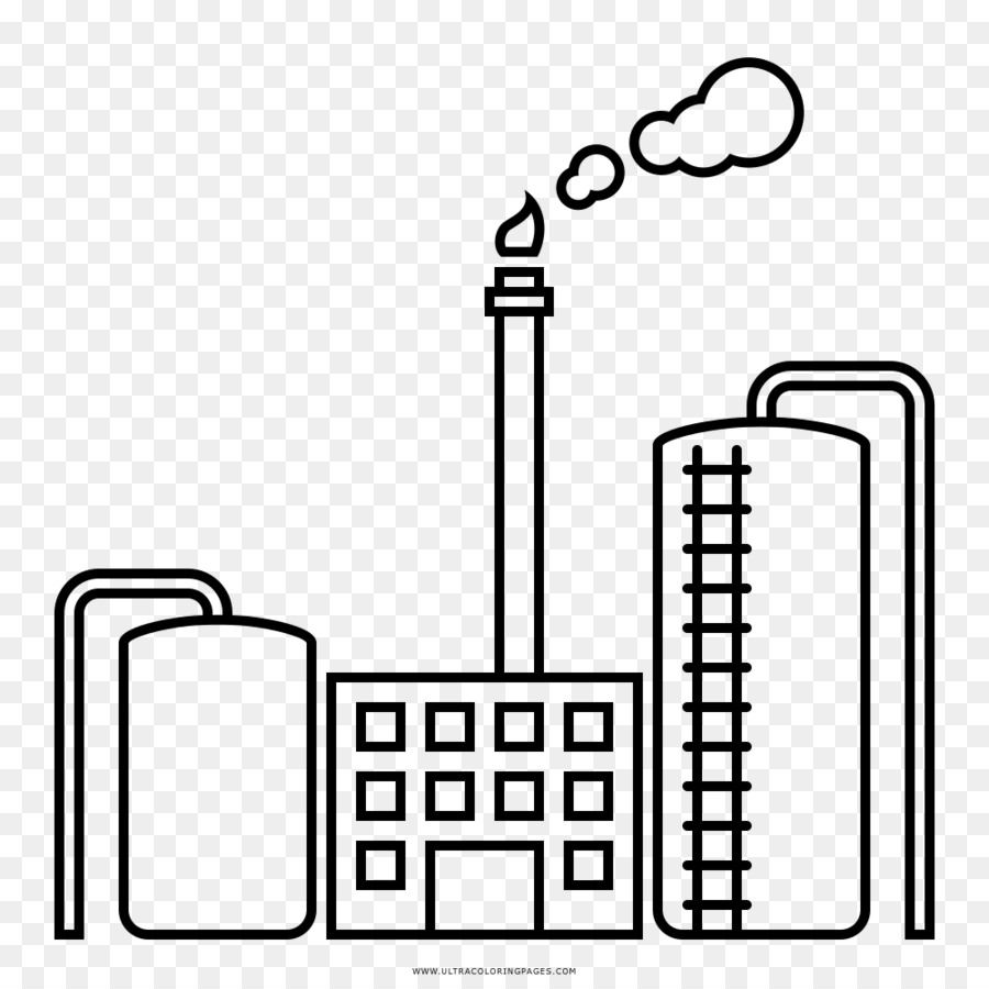 Oil refinery Coloring book Factory Drawing - white gas png download ...