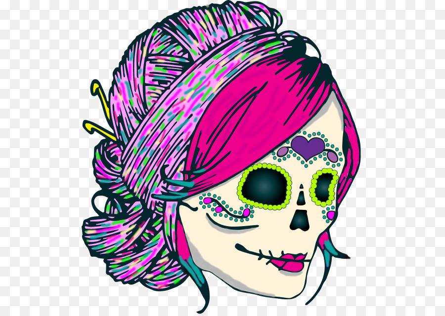 Crochet De Hilo De Ravelry Patrón - cráneo patrón png dibujo ...