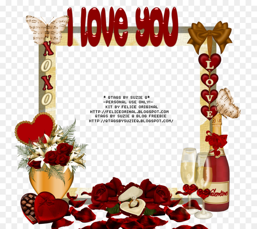 Picture Frames Valentine\'s Day Flower - saint valentine day png ...
