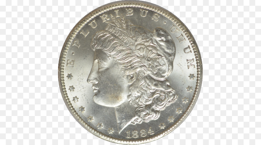 Coin Obverse and reverse Morgan dollar Currency Brockage
