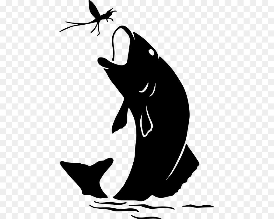 La silueta de la Pesca Clip art - koi vector Formatos De Archivo De ...