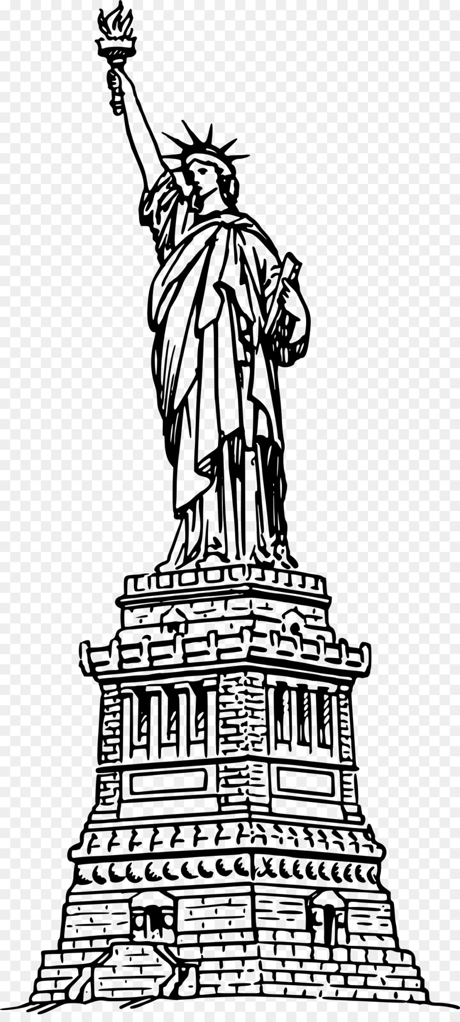 Statue Of Liberty Coloring Book Drawing