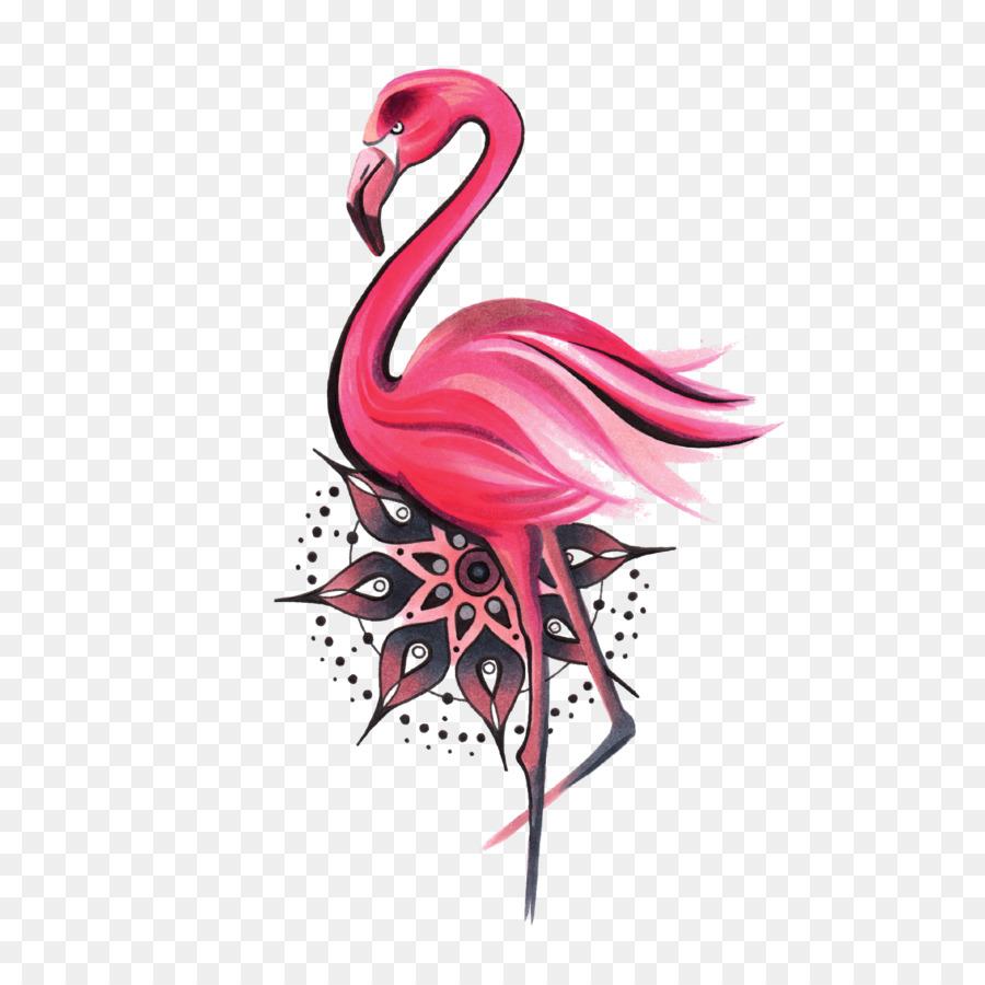 mandala water bird greater flamingo symbol bird png download