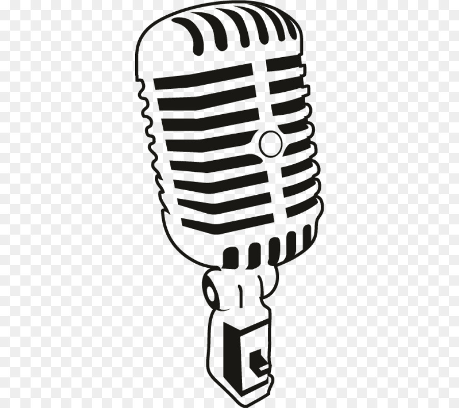 Line Art Microphone : Microphone drawing clip art microphones vector png