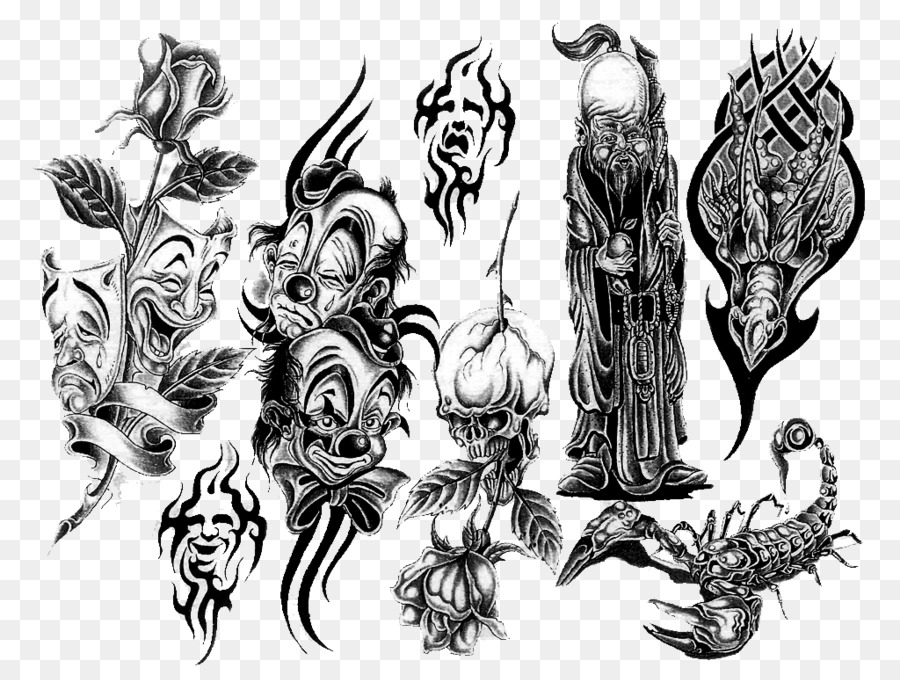 Joker Evil Clown Tattoo Artist Clown Hands On Png Download 1024