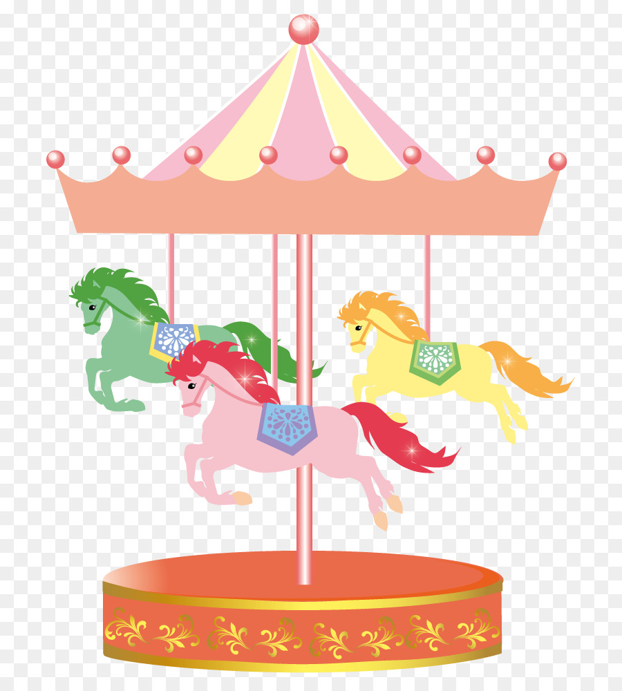 New Year Card Clip Art Merry Go Round Png Download 765996