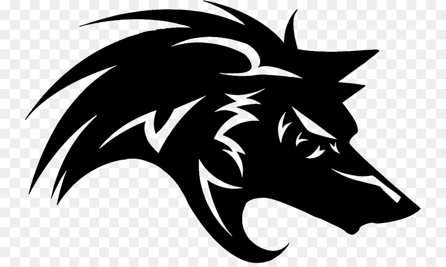 gray wolf black wolf logo wolf vector png download 800