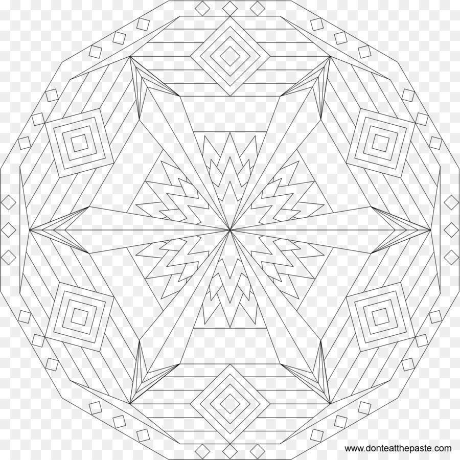 Sand mandala Sacred geometry Coloring book - european and american ...