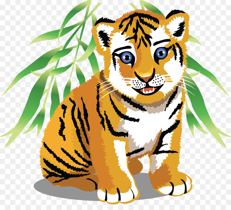 tiger baby jungle animals cartoon clip art tiger png download rh kisspng com jungle animal clipart free animaux jungle clipart
