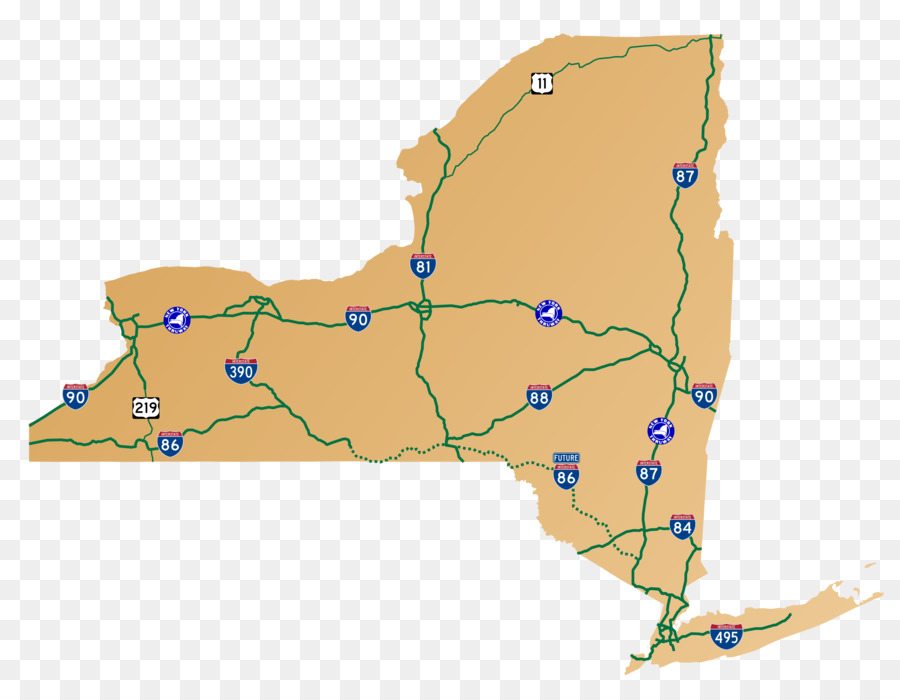 New York City State Map.New York City New York State Thruway Map Highway Toll Road