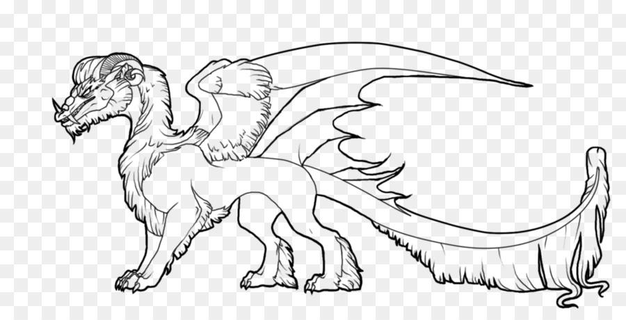 Coloring Book Line Art Dragon Dragon Png Download 1264632