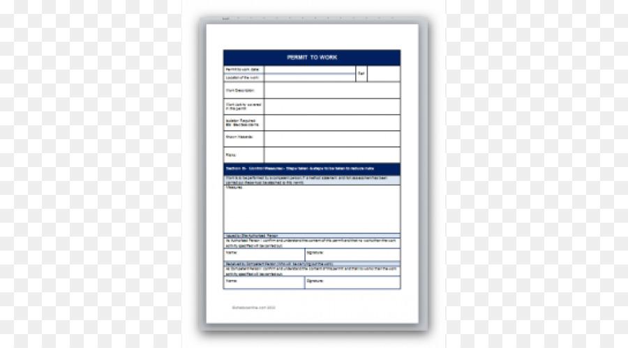 Plantilla permiso de Trabajo Documento de Formulario de Permiso De ...