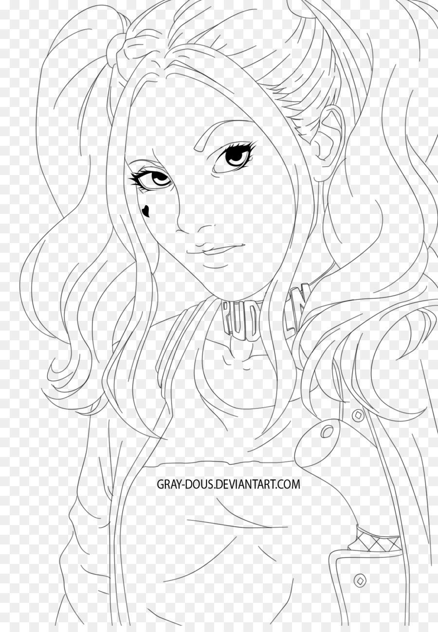 Harley Quinn Linea Arte Disegno Schizzo Arlecchino Scaricare