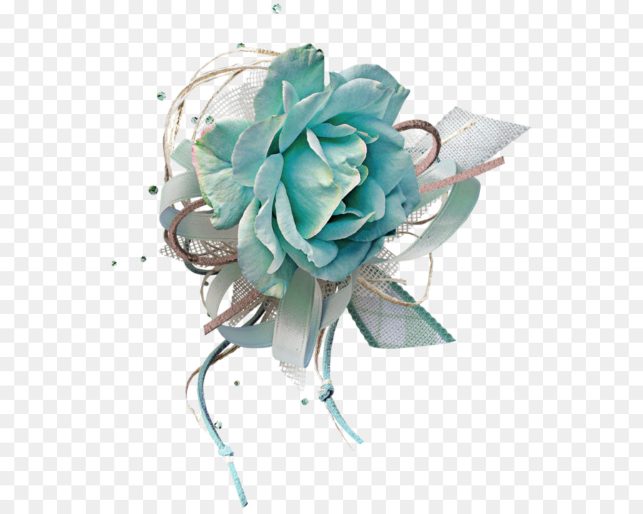 Cut flowers Rose Clip art - blue rose png download - 600*717 - Free ...
