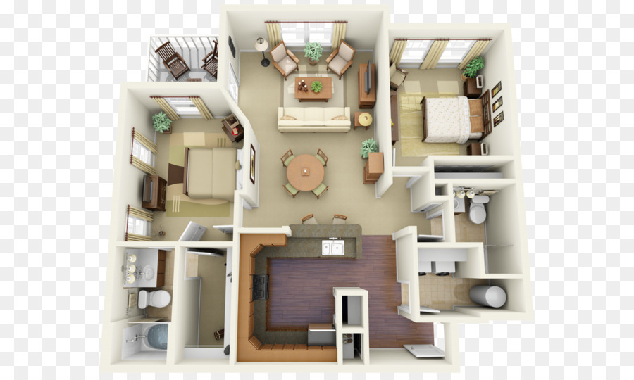 Window 3D Floor Plan House Building   Window