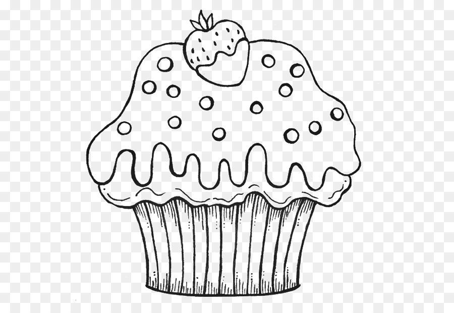 Magdalena Muffin libro para Colorear, Dibujo de Crema - tortas y ...