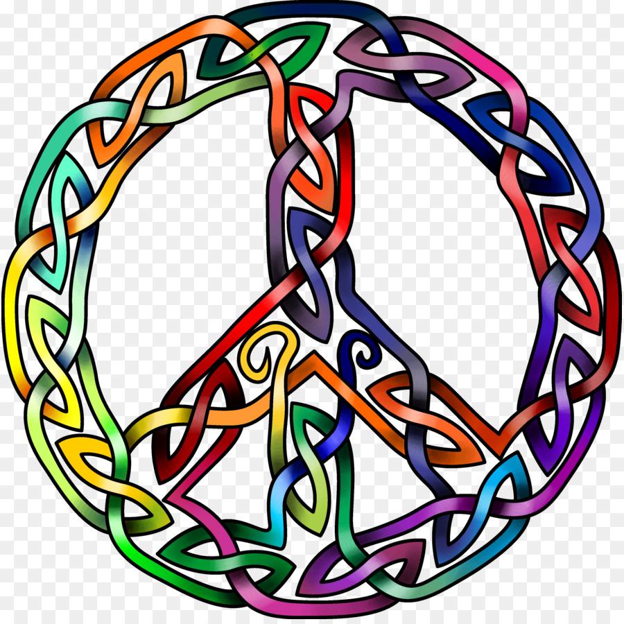 Peace Symbols Celtic Knot Art