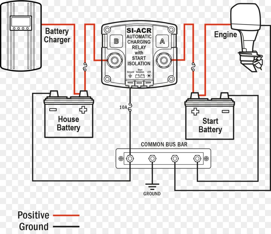 Battery charger Wiring diagram Battery management system Relay ...