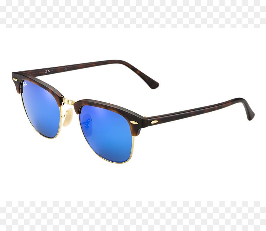 Ray-Ban gafas de sol de Espejo Browline gafas - oro material de la ...