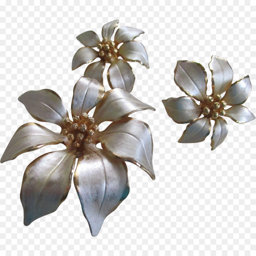 Cut Flowers Body Jewellery Petal White Christmas Png Download