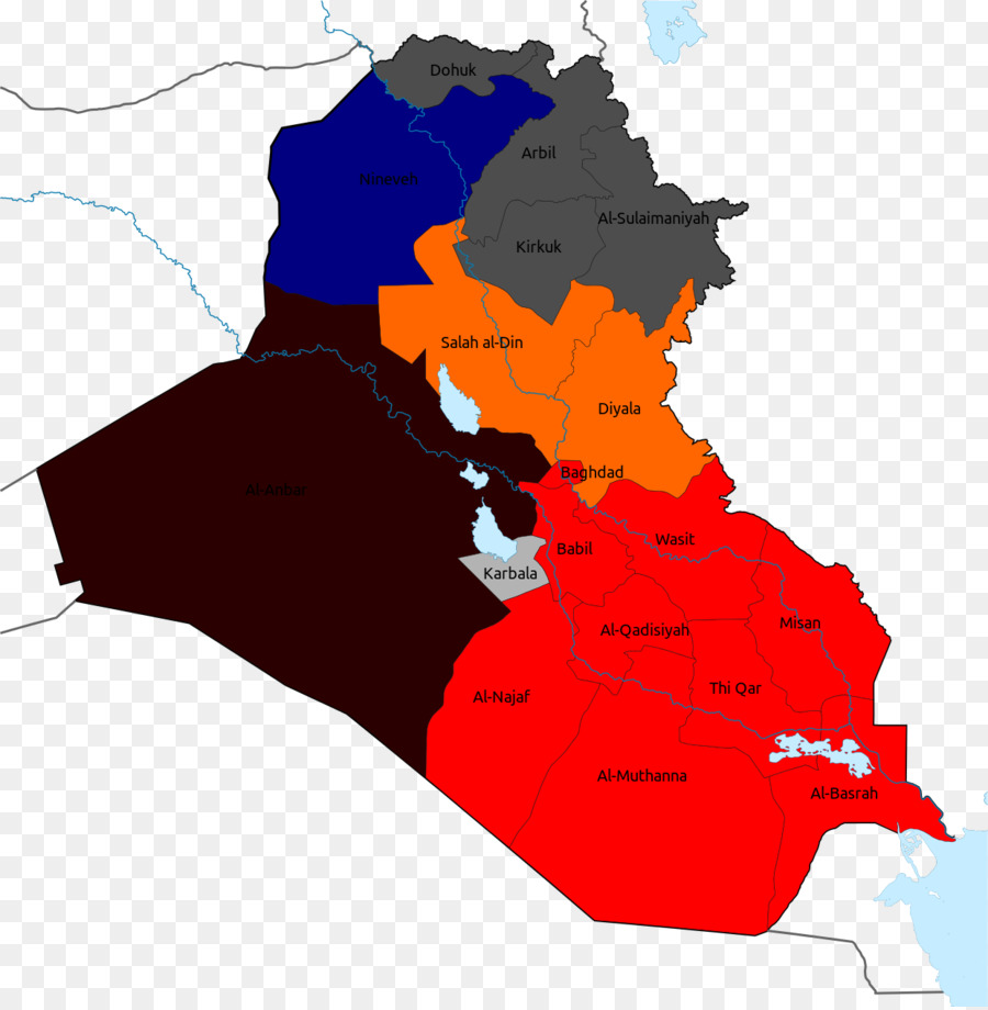 Iraqi Civil War Vector Map iraq png download 12411264 Free