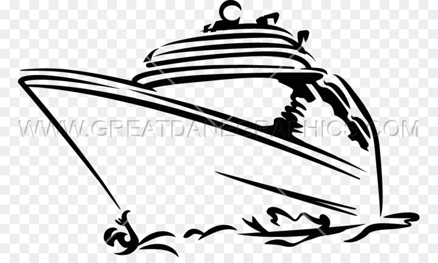 Black And White Cruise Ship Ocean Liner Clip Art