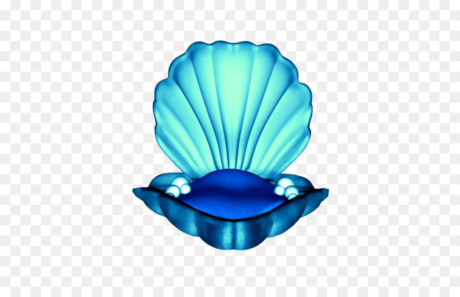 Moluska Shell Gambar Besar Kerang Buku Mewarnai Biru Pahlawan