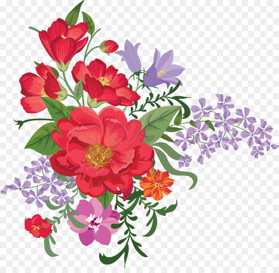 flower desktop wallpaper floral design clip art - pretty flowers png
