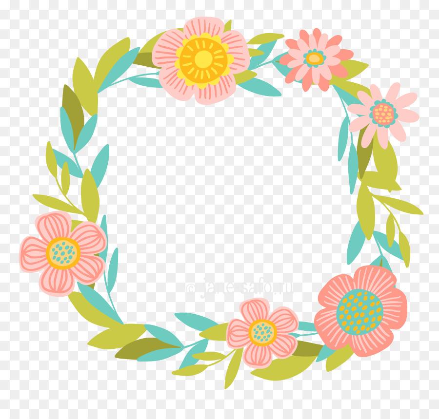Corona de Flores de las rosas de Jardín Clip art - la primavera de ...