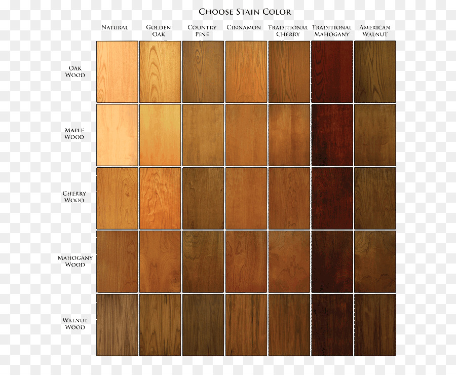 Wood Stain Color Chart Floor Color Chart Png Download 684740