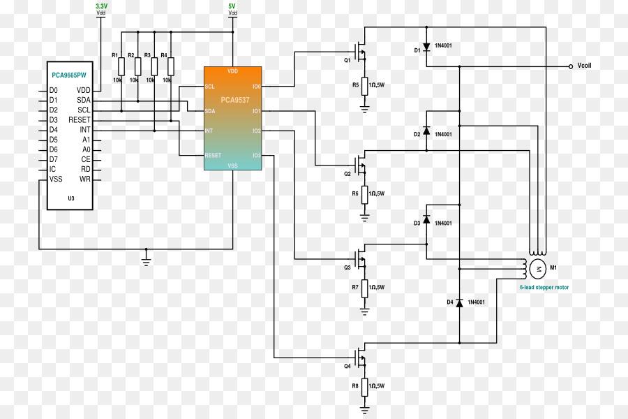 Unipolar Stepper Motor Driver Circuit On Unipolar Stepper Diagram