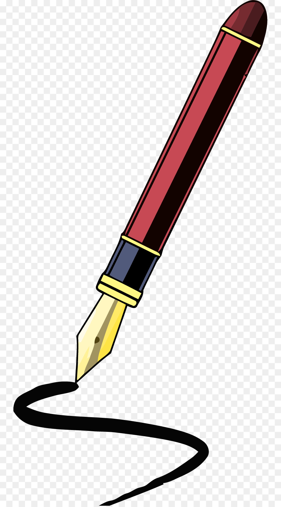 quill fountain pen paper clip art pen png download 814 1616 rh kisspng com pen clip art comic pen clip art free