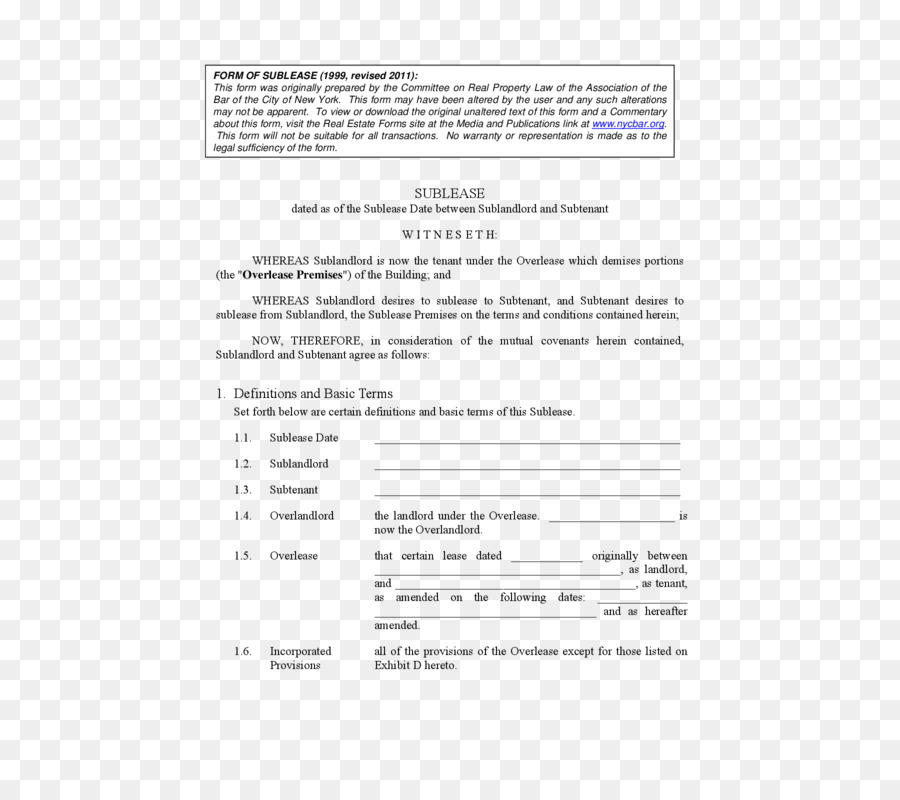 New York City Rental Agreement Document Contract Form Lease Png