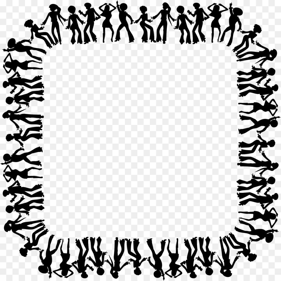 Dance Drawing Clip art - square photo frame png download - 2274*2274 ...
