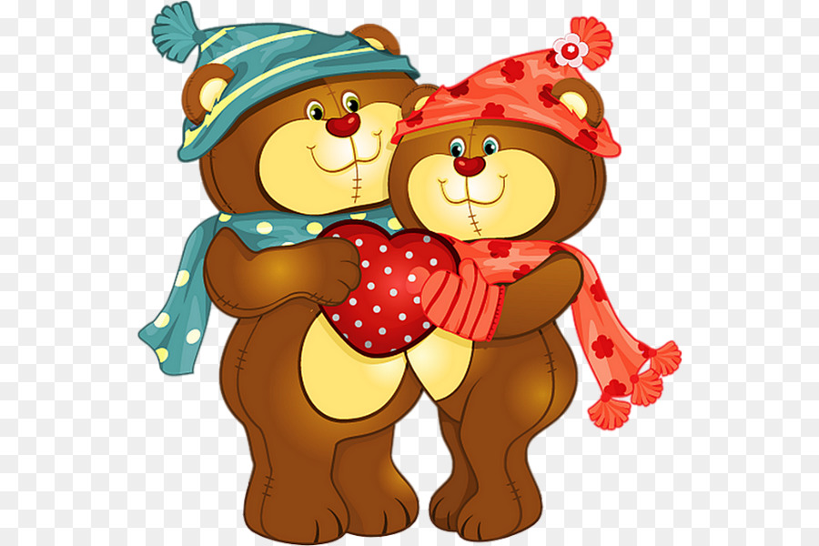 Bear Valentine S Day Drawing Clip Art 14th Png Download 600 600