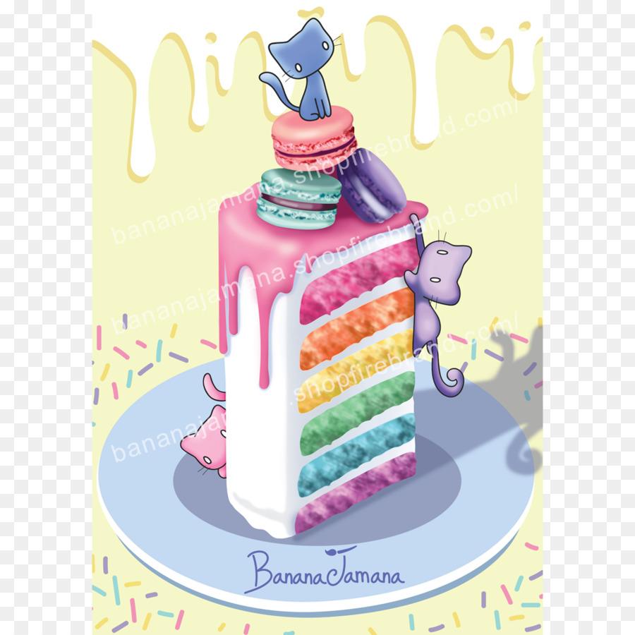 Geburtstag Kuchen Torte Rainbow Cookie Frosting Glasur Kuchen