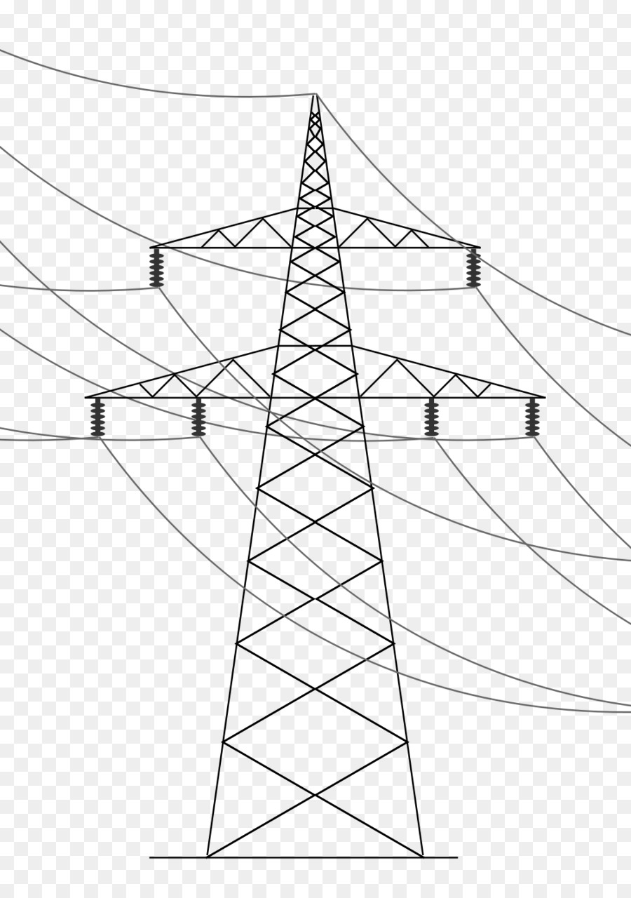 Overhead power line Electric power transmission Transmission tower ...