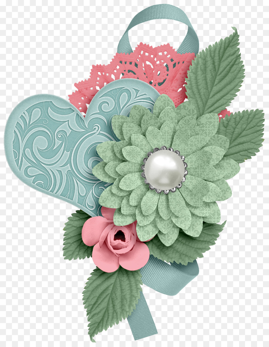 Flower Scrapbooking Embellishment Clip art - flower png download ...