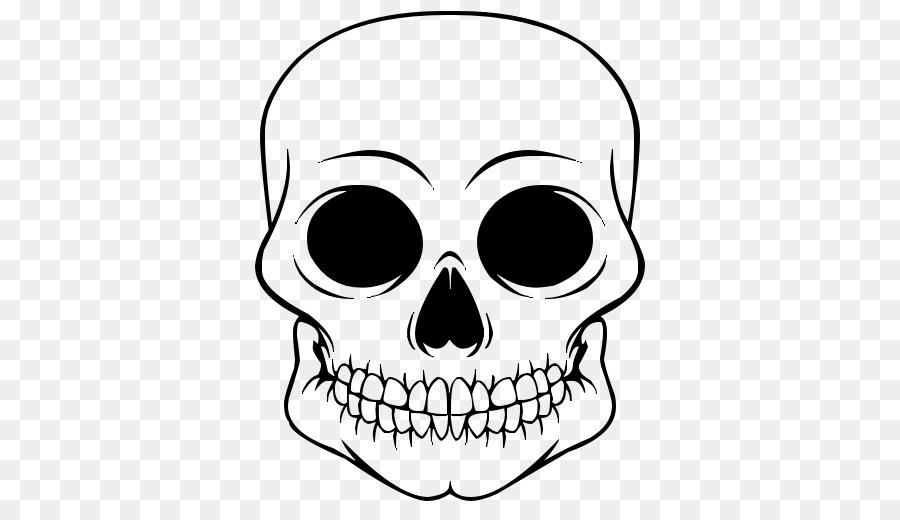 Calavera Cráneo Dibujo para Colorear libro Clip art - cráneo de ...