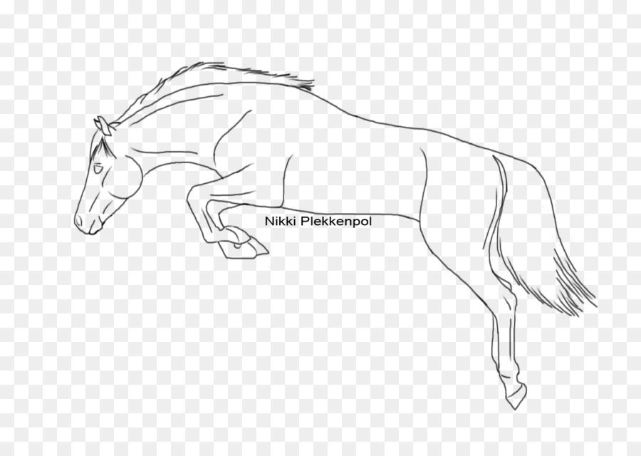 Mustang Zeichnung Springen Wie Ein Pferd Zeichnen Zeile
