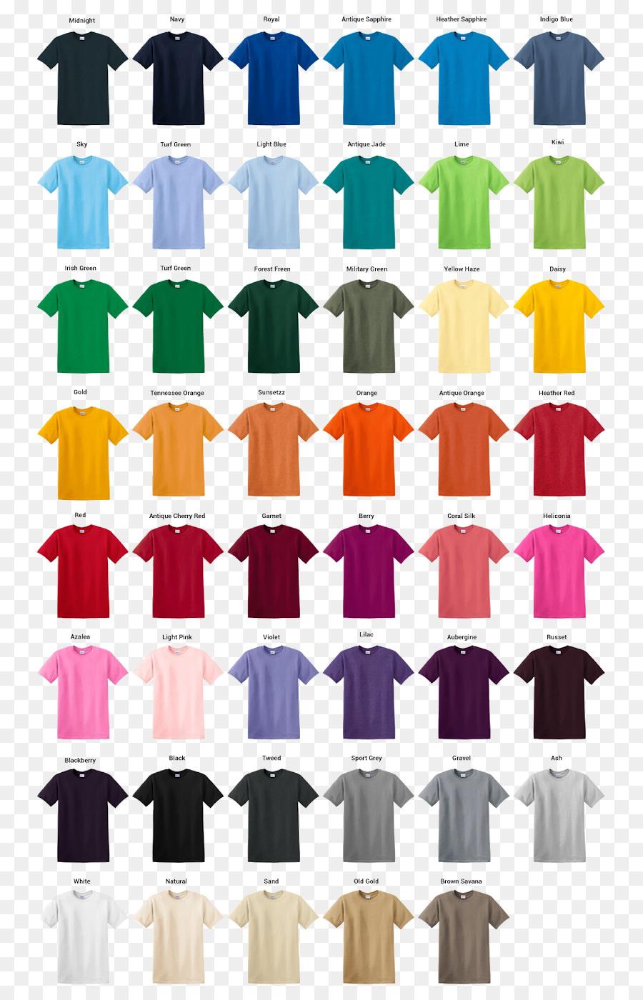 T Shirt Gildan Activewear Sleeve Clothing Color Chart Png Download