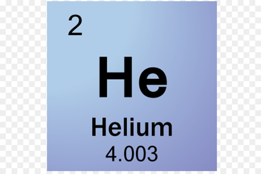 Periodic Table Symbol Helium Chemical Element Gas Helium Png