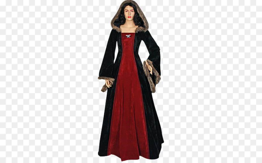 English medieval clothing Costume Gown Dress - mink hair dress png ...
